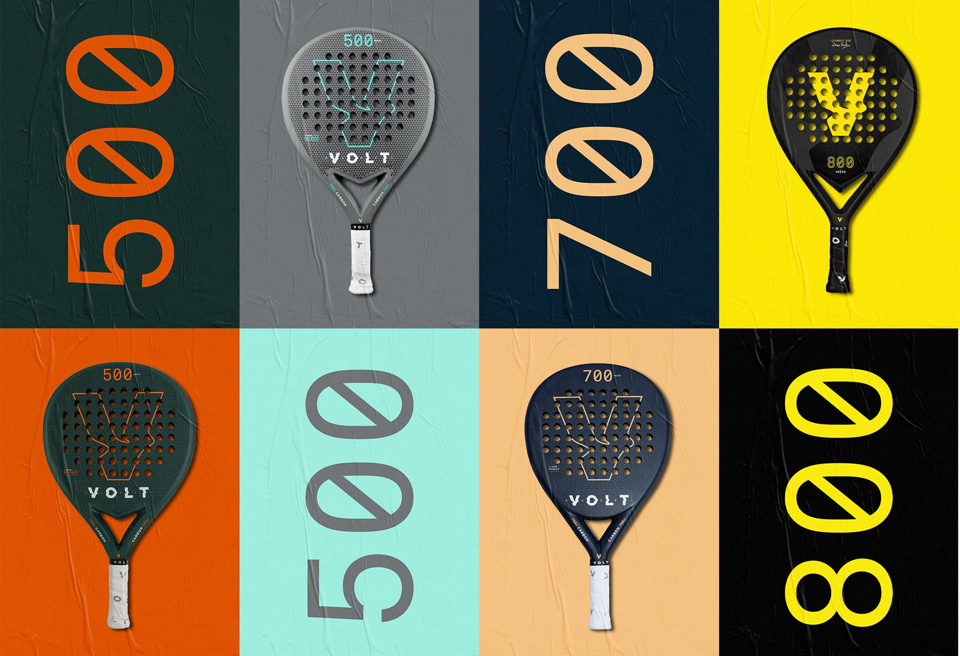Volt padel rackets